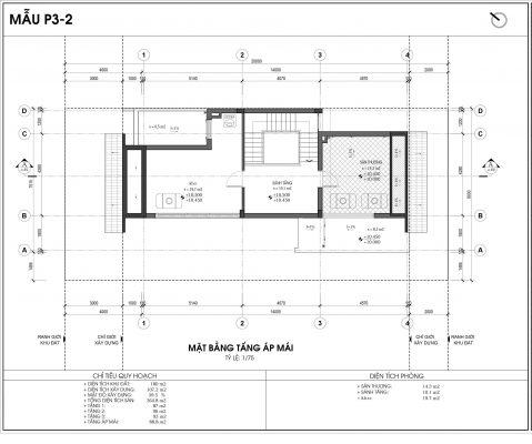 Thiết kế biệt thự An Vượng Villa mẫu 2 diện tích 180m2 tầng 4