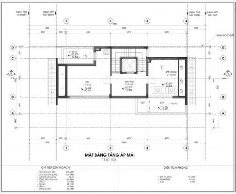 Thiết kế biệt thự An Vượng Villa mẫu 5 diện tích 175.5m2 tầng 4
