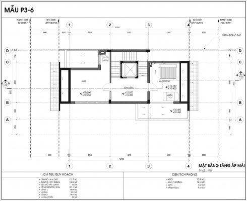 Thiết kế biệt thự An Vượng Villa mẫu 6 diện tích 177.7m2 tầng 4